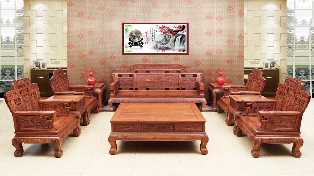 江山如画沙发-中山大涌创辉红木家具有限公司